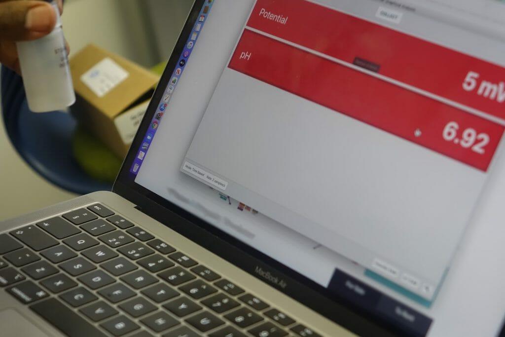 teacher using technology